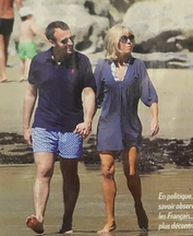 Macron en vacances